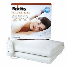BELDRAY KING SIZE ELECTRIC ELECTRICAL HEATED UNDER BLANKETS THROW WASHABLE