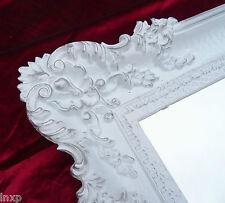Wandspiegel Rechteckig Weiß Silber BAROCK WANDDEKOAntik Spiegel 96x57cm Replikat