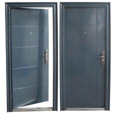 porte d'entrée porte porte d'entrée porte de sécurité 96x205 anthr. DIN droite