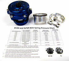 Tial Q Blow Off Valve BOV 50MM 10 psi Blue with Aluminum Flange New Version 2