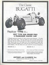 1927 1974 Bugatti Type 35 VW Kit Car Brochure mx2777-RXAVMX