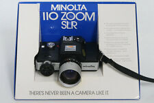 Minolta 110 Zoom SLR Camera with original Box and instructions, etc