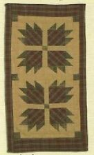 "BEAR PAW PATTERN TEA DYED QUILTED MINI TABLE RUNNER ~ MAT 12"" x 23"""