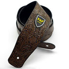 New Adjustable PU Leather Thick Strap for Electric Acoustic Guitar Bass Brown