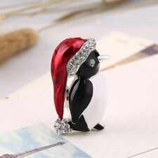Xmas Gift Rhinestone Crystal Cute Penguin Brooch Pin Charm Unisex Best Jewelry