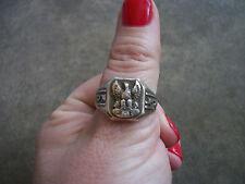 vintage 1940 FOE Fraternal Order of Eagles rare sterling ring 10