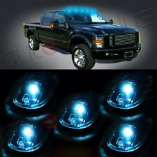 5x For Dodge Roof Top Cab Marker Lights Clear Lens+5x 5050SMD Ice Blue LED Lamp