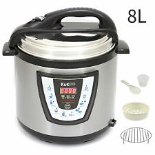 Electric Pressure Cooker 8 LITRE Multi Electric Rice Cooking Pot 10 in 1 1200W
