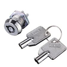 New Key Operated Security Switch Lock Pole Single Throw SPST 2 Position ON/OFF