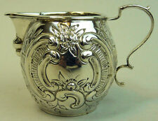 ANTIQUE GERMAN .800 SILVER CREAM JUG TH MULLER C.1900 - 79 GRAMS