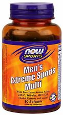 Now Foods Men's Extreme Sports Multi 90 Gels Amino Acids ZMA MCT Oil FREE SHIP