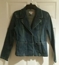KALI GIRL Denim Jean Jacket NWOT M Medium Blazer Style Front Pockets