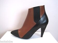 Balenciaga Classic Two Tone  Leather Ankle Stretchy Boots Booties 36 6 $1085