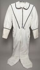 BOGNER Women's White Snow Ski Suit Jumpsuit Romper Button Zip w/ Belt NICE!