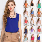 Sexy Womens Casual Sleeveless Chiffon Shirt Blouse Tank Vest Tops T Shirts Tops