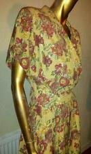 VINTAGE ORIGINAL MULBERRY FLORAL DRESS waist 33cm,13'',UK 6, HAVE A LOOK