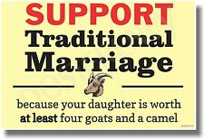 Support Traditional Marriage - NEW Motivational Poster