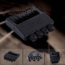 HOT 4 String Alloy Headless Bass Guitar Bridge System Guitar Parts Black ABE