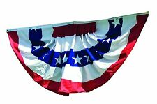 3x6 ft SEWN Commercial Fan US American Flag Bunting Sewn Stripes Sewn Stars
