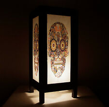 Handmade Asian Oriental Fantasy Cards Jack Queen King Skull Bedside Table Light