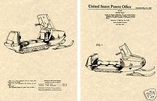 Snowmobile US Patent Art Print READY TO FRAME 1967 Snow Machine Polaris Evinrude