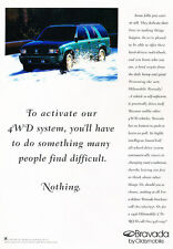1996 Oldsmobile Bravada Original Advertisement Car Print Ad J510
