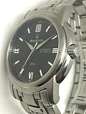 Bulova Accutron 21 Jewels 50m Automatic Stainless Steel Black Mens Swiss Watch