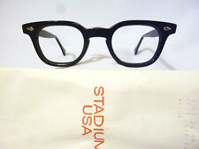 Vintage American Optical Arnel Style Hybrid in Black with Spear Shields 46-24