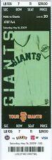 2009 Giants vs Mets Ticket: Johan Santana beats Randy Johnson (7 Cy Young award)