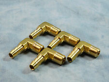 "1/8"" NPT X 1/4"" HOSE BARB BRASS 90 DEGREE ELBOW ***LOT OF 5****"