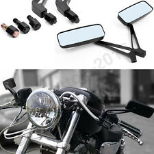 Anti-glare Motorcycle Rearview Side Mirrors + Custom Bolts For Harley Davidson
