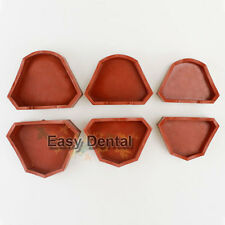 6pcs Dental Model Former Base Mold Plaster Mould Tray Silicone 3 sizes