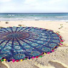 Round Mandala Tapestry Beach Indian Yoga Mat Wall Hanging Decor Hippie Bedspread
