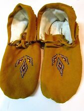 Native American Moccasins, 10 INCHES LONG, HANDMADE, UNISEX