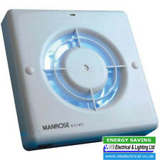 "Manrose QF100T 4"" Standard Quiet Extractor Fan with Integral Timer"