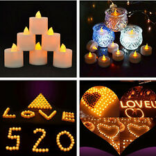 6 Flameless LED Tealight Flickering Tea Light Candles Wedding Christmas Battery