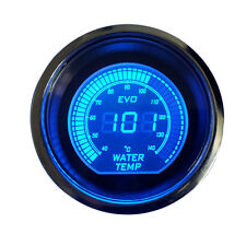 "Smoke Len 2"" 52mm Blue Red Water Temp Temperature Gauge Car Digital LED Light"