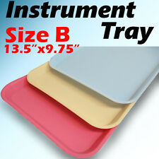 "1 PC Blue Dental Instrument Tray Trays Size B 13.25"" x 9.75"" Plastic"