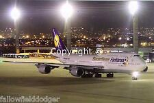 "Lufthansa Airlines Boeing 747-830 D-ABYI ""Siegerflieger"" at Rio 07/2014 Postcard"