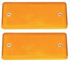 2 x Genuine Ifor Williams Orange/Amber Side Rectangle Reflector - P0696