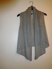 FOREVER 21 Womens/Juniors Sz.M Tan No-Sleeve Knit Sweater/Cardigan-Preowned
