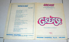 Spartito GREASE di Barry Gibb Songbook spartiti 1978 Cinema