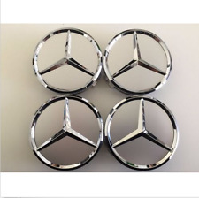 75mm Center Hubcap Hub Cap Caps Wheel Cover for Mercedes Benz 4x Silver