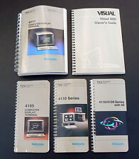 5x vintage 1980's Tektronix computer operator manual 4105 4110 4111 Visual 600