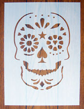 Day of the Dead Skull Stencil Mask Reusable Mylar Sheet for Arts & Crafts, DIY
