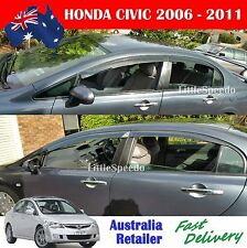 Premium Honda Civic Weathershields Weather Shields Window Visor AUST STOCK 06-11