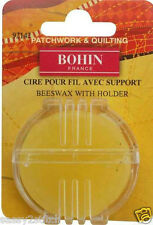 Bohin Beeswax with Holder for Quilting, Sewing, Embroidery, Cross-Stitch