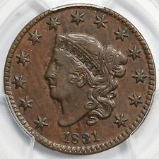 1831 N-10 R-3 Pcgs Xf 40 Matron or Coronet Head Large Cent Coin 1c