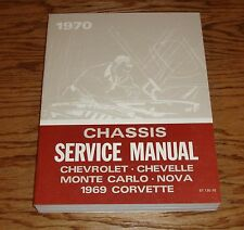 1970 Chevrolet Chassis Shop Service Manual 70 Chevy Camaro Corvette Chevelle SS