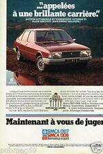 Publicité advertising 1976 Simca 1307 1308